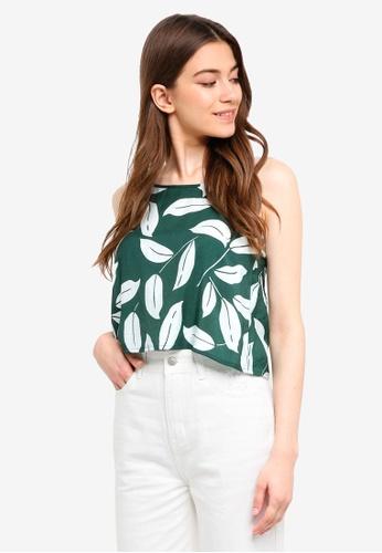 Something Borrowed green Cami Swing Top ED546AA8DDE3EDGS_1