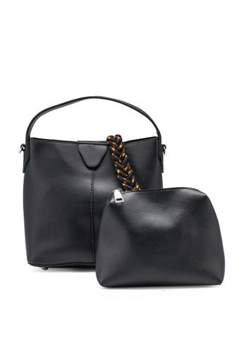 NATALIE & PEPPER black Anne Top Handle Bag 4A94DAC6B0D930GS_1