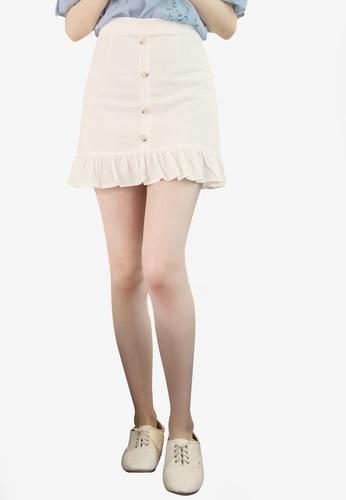 Eyescream white Ruffle Hem Mini Skirt 92753AA6C71AC4GS_1