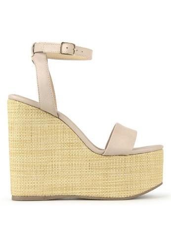 Betts beige Elite Platform Sling Back Sandals 85590SHD5C01FCGS_1