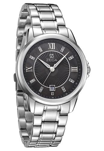 ZECA black and silver Zeca Watches Couple Men Fashion - 308M Silver Black ZE260AC81SLASG_1