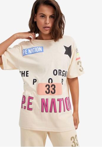 P.E Nation white Eastbrook Tee 70CAFAAE613EA9GS_1