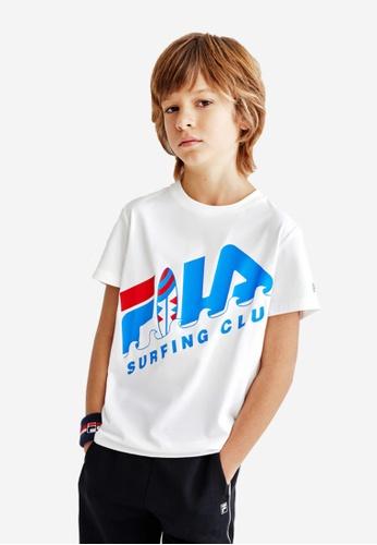 FILA white FILA KIDS FILA SURFING CLUB Logo T-shirt 8-15yrs 43839KA1445199GS_1