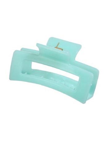 Glamorbit green Pastel Green Messy Hair Claw Clip B434CACF1E0CE4GS_1