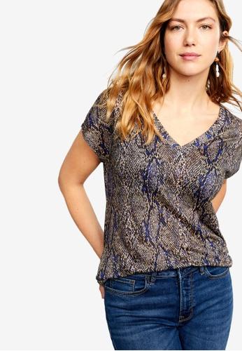 910bb7cc9835 Shop Violeta by MANGO Plus Size Snake Print T-Shirt Online on ZALORA  Philippines