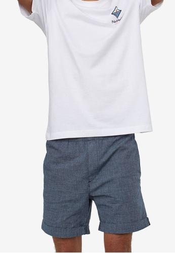 H&M blue Cotton Jogger Shorts A58F3AA5D145BDGS_1