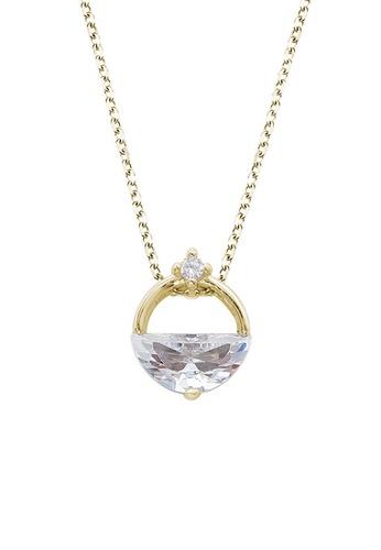 Twenty Eight Shoes gold VANSA Simple Diamond Pendant Necklace VAW-N265 8CFFBAC1EC12ADGS_1