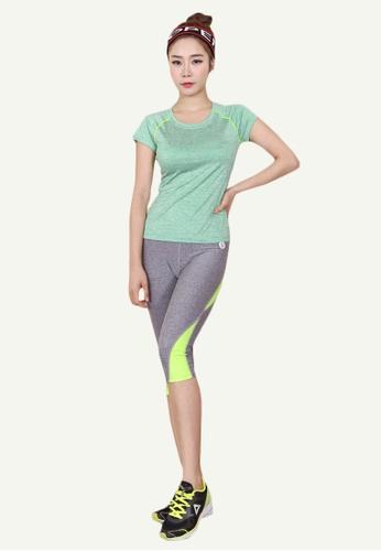 B-Code grey ZYG5002C-Lady Quick Drying Running Fitness Yoga Sports Leggings-Grey 97029AA405D2CFGS_1
