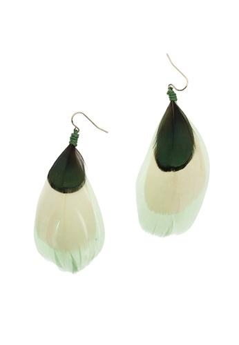LUCCACAL Helena Feather Earrings LU294AC0RGPDMY_1