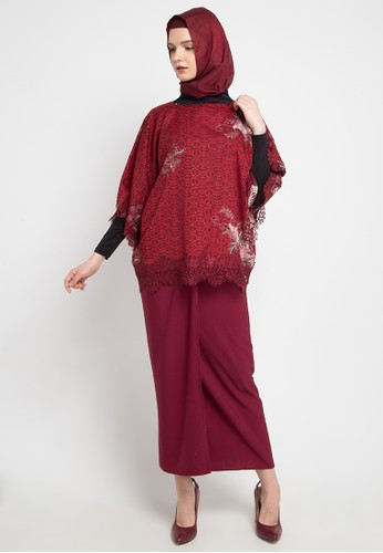 LUIRE by Raden Sirait red and multi A-Tangan Renda EE0DCAA48699E2GS_1
