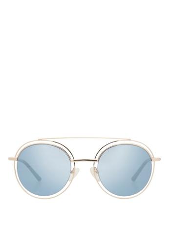 Carin blue and multi and gold Sedgwick C1 Sunglasses 9F562GL87F5870GS_1