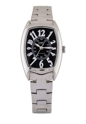 Casioesprit outlet hk LTP-1208D-1BDF 不銹鋼數字錶, 錶類, 時尚型