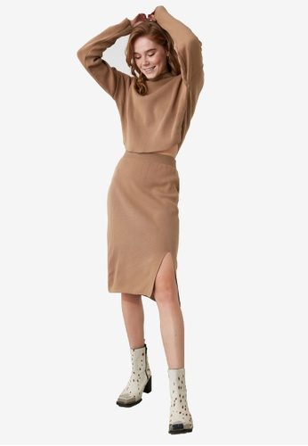 Trendyol brown Sweater and Skirt Set 8399EAA357980CGS_1