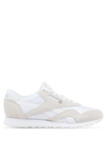 Reebok white Cl Nylon Shoes 44CCDSH9356114GS_1