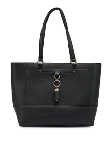 Dorothy Perkins black Black Pocket Front Shopper Bag 86F94AC33A1966GS_1