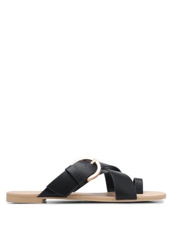 ZALORA black Buckle And Loop Sandals CA220SH4C57E37GS_1