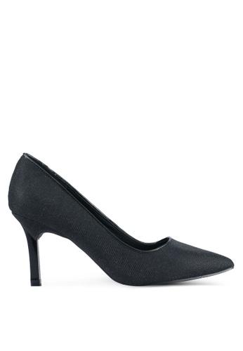 VINCCI black Shimmer Pump Heels VI831SH0SY5YMY_1