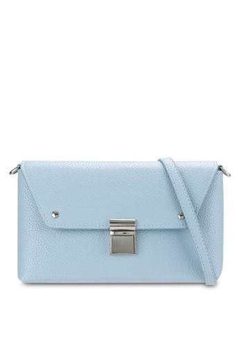 Velvet blue Envelope Clutch 2F6FAZZ2A5074EGS_1