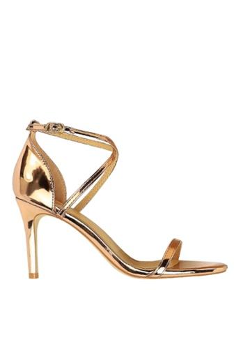 Twenty Eight Shoes gold Shiny Cross Straps Evening Sandals VP126A8 659CFSHB225E05GS_1