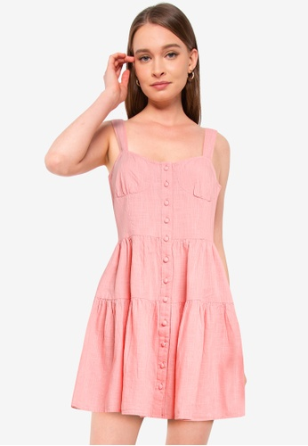 Cotton On pink Woven Selma Textured Mini Dress D6C34AABED94DFGS_1