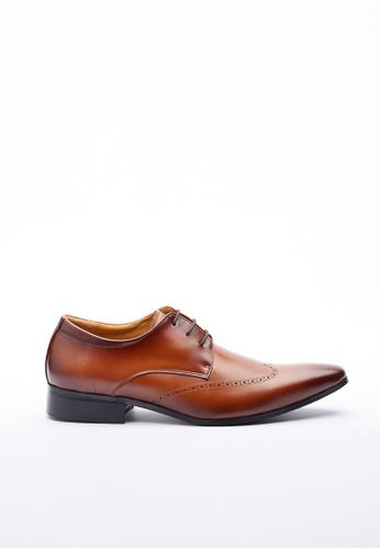 Kings Collection brown Salinger Leather Shoes D927ESH33E6AB7GS_1