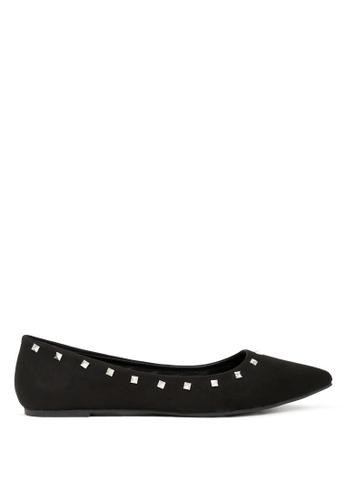 London Rag 黑色 时尚芭蕾舞鞋 SH1703 218FBSHD5D4AD3GS_1