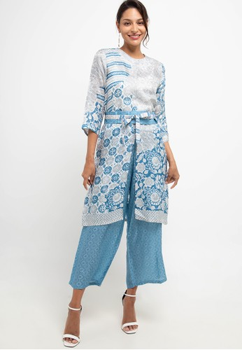 bhatara batik blue and grey Kahiyang Set 88F95AAB2ADEA4GS_1