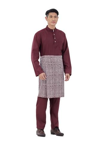 I Am Famous red Uzayr Baju Melayu with Sampin 99FF3AA15071C6GS_1