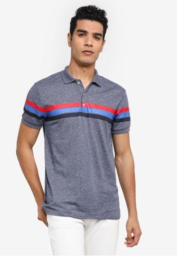 LC Waikiki navy Stripe Pique Polo Shirt 81CBEAADFC15F0GS_1