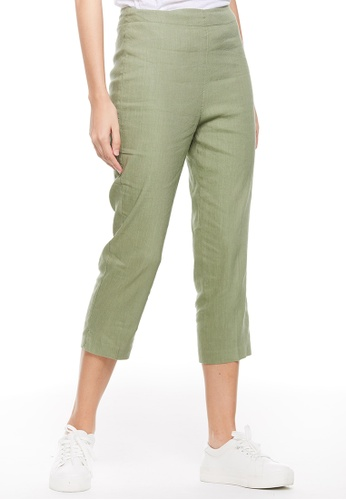 United Colors of Benetton green 3/4 Cropped Pants 21C30AA2EF5D92GS_1