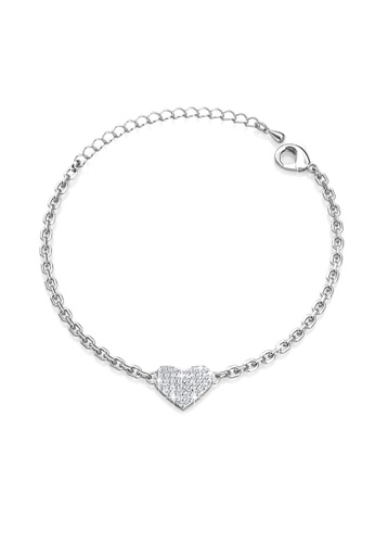 Her Jewellery silver Only Love Bracelet - Made with premium grade crystals from Austria HE581AC0RVFFMY_1