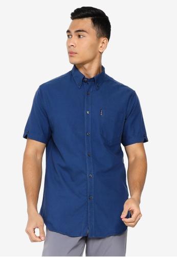Ben Sherman blue Signature Gots Organic Oxford Shirt E42FFAA332EB0DGS_1