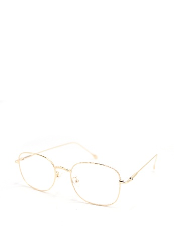 Peculiar and Odd gold Square Eyeglasses 9006 Anti-radiation Replaceable Lenses 2E173GL88454FBGS_1