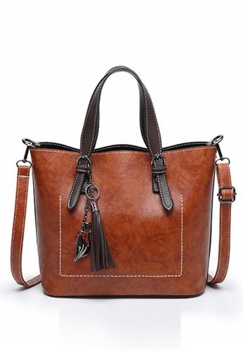 Halo brown Two Way Crossbody Hand Bag 2BE76AC4E9874CGS_1