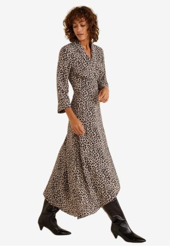 Mango black Leopard Print Dress 202B9AAC1515F1GS_1