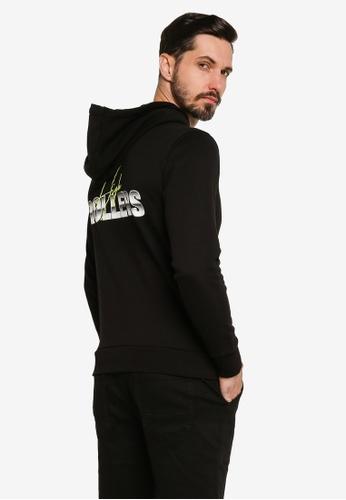 Lee black Casual Long Sleeve Hoodie 51BF6AA9429A45GS_1