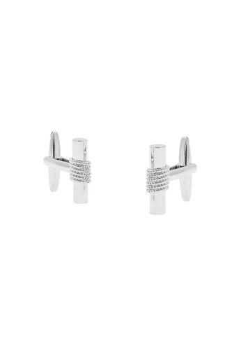Buckle silver Rod Nickel Polished Cable Cufflinks 8A012AC57F86DBGS_1