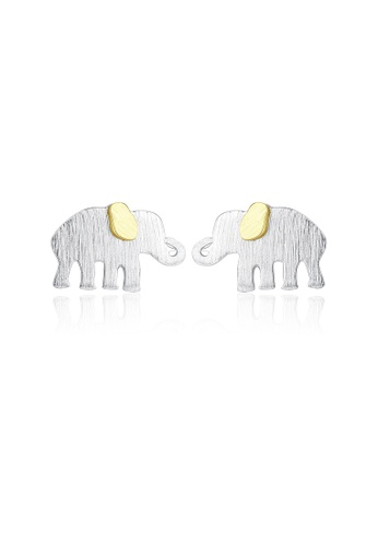 SUNRAIS silver High quality Silver S925 silver elephant earrings 834A2AC36D1A12GS_1