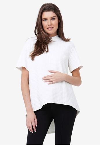 Ripe Maternity white Maternity Mon Cherie Swing Top 59C59AA46DD0B5GS_1