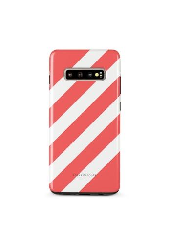 Polar Polar red Scarlet Slash Dual-Layer Tough Case Glossy For Samsung Galaxy S10 Plus 5592FACEDBC1A4GS_1