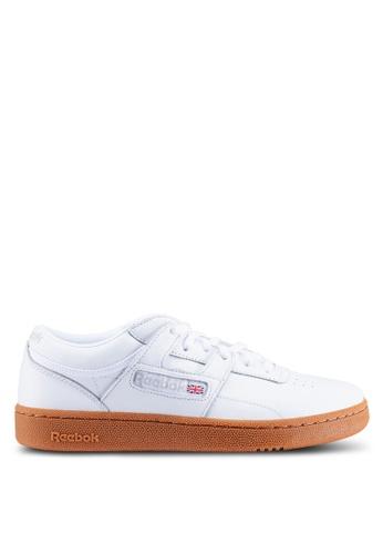 Reebok grey and white Classic Club Workout MU Shoes A9D47SHB1E97F7GS_1
