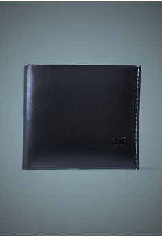 One Piece Black Leather Wallet