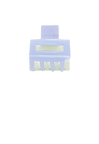 Glamorousky green and blue Simple and Fashion Blue and Green Stitching Geometric Hair Claw 0E890AC441CA47GS_1