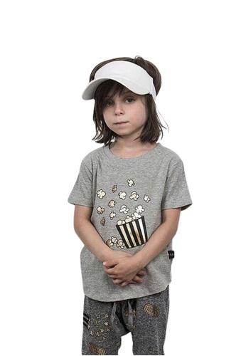 Ribbons+Wheels grey Huxbaby Popcorn T-shirt 5CE40KAAA36A9DGS_1
