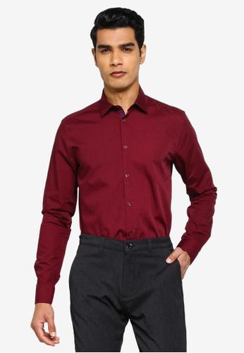 !Solid red Gene Long Sleeve Shirt EB8CAAA46D341BGS_1