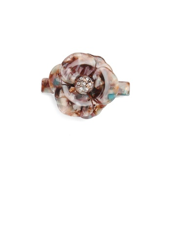 Glamorousky white Fashion and Elegant Color Flower Small Hair Slide with Cubic Zirconia 81477AC03BA20EGS_1