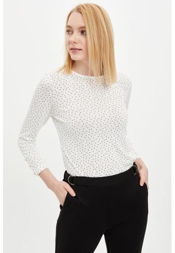 DeFacto beige Woman Knitted Long Sleeve T-Shirt 67B27AA8927EA5GS_1