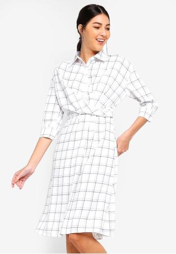 ZALORA multi and navy Wrap Midi Shirt Dress C01E1AAF3D0D87GS_1