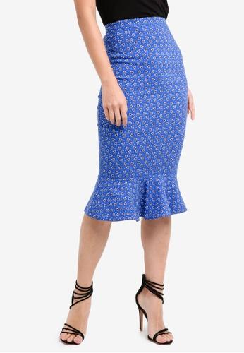 Vesper blue Vesper Pippi Peplum Hem Midi Skirt 2311FAA6BD0C93GS_1