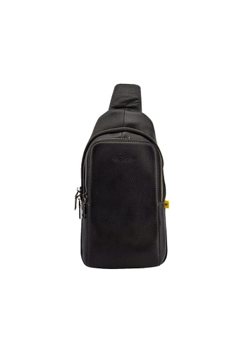 EXTREME black Extreme Classic Genuine Leather Chest Pack Single Strap Backpack Travel Crossbody Sling Multi Compartment 6912EAC67945A6GS_1
